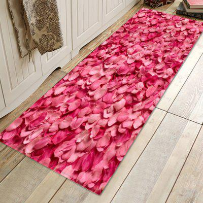 Rose Petal Pattern Background Decorative Floor Mat Carpet