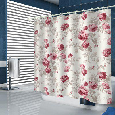 Rose Pattern Home Shower Curtain