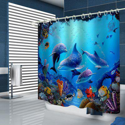 Marine Animal Pattern Shower Curtain