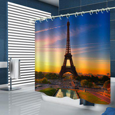 Paris Tower Pattern Home Shower Curtain