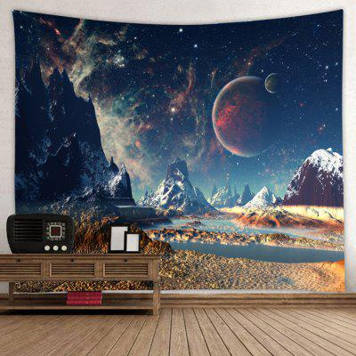 Snow Mountain Star Universe Star Print Brushed Tapestry