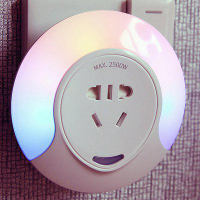 Light Control Colorful Night Creative Bedside Lamp Socket