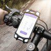 FLOVEME Shockproof Bicycle Holder for 4 - 6.3 inch Mobile Phone - BLACK