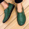 Comfortable Driving Men's Casual Handmade Leather Shoes - MEDIUM SEA GREEN