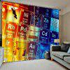 Digital Printing Environmentally Friendly Waterproof Universal Curtain 2pcs - MULTI-C