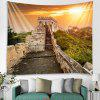 The Great Wall Stairs Pattern Background Wall Decoration Tapestry - LIGHT SALMON