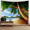 Seaside Coco Pattern Background Wall Decoration Tapestry - BABY BLUE