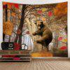 Brown Bear Pattern Background Wall Decoration Tapestry - CAMEL BROWN