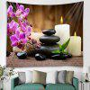 Phalaenopsis Pattern Background Wall Decoration Tapestry - CAMEL BROWN