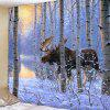 Reindeer Pattern Background Wall Decoration Tapestry - SKY BLUE