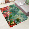 Cartoon Style Flower Pattern Print Carpet - LIGHT SEA GREEN