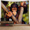 Home Monkey Pattern Tapestry - MULTI-A