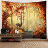 Maple Leaf Pattern Home Tapestry - COOKIE BROWN
