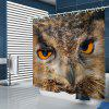 Home Eagle Pattern Shower Curtain - WOOD