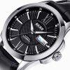READ R8016 Leather Automatic Men Watch with Dual Calendar Function - BLACK EEL