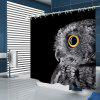 Owl Pattern Household Shower Curtain - GRAY