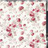 Rose Pattern Home Shower Curtain - WHITE