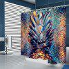 Abstract Style Creative Pineapple Pattern Print Shower Curtain - BABY BLUE