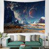 Snow Mountain Star Universe Star Print Brushed Tapestry - LAPIS BLUE