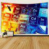 Contrast Design Interior Wall Decoration Polyester Printing Tapestry - MULTI-A