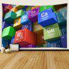 Cubes Chemical Elements Interior Wall Decoration Printing Tapestry - MULTI-A