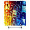 Contrast Design Chemistry Digital Printing Waterproof Shower Curtain - MULTI-B