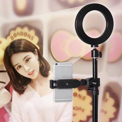 Yeshold Cell Phone Holder Stand with Selfie Ring LED Light for Live / Makeup