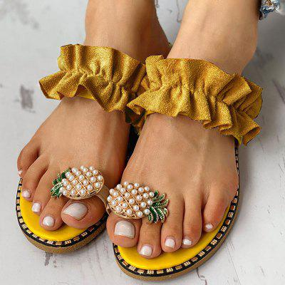 Large Size Female Pineapple Lace Beach Sandals