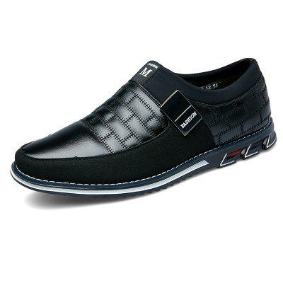 Men Casual Shoes First Layer Cowhide Leather Large Size Breathable