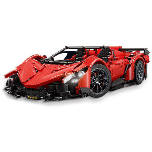 Gearbest Mould King 1:8 MOC - 10559 Red Poison Building Block Car 2538PCS - Red Remotely Control to Open Roadster Door