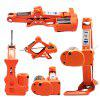 ZS3J Electric Jack Tools Kit 3 Tons Maximum Load-bearing for 12V Auto Maintenance - ORANGE
