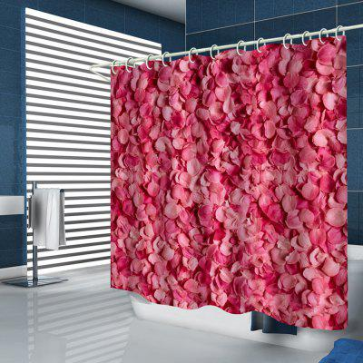 Romantic Petals Patterned Shower Curtain Flower Bath