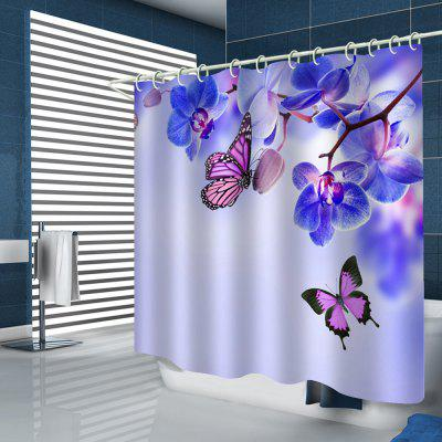 Romantic Butterfly Print Shower Curtain