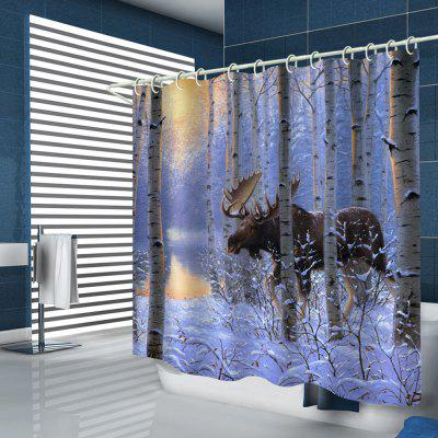 Sunset Woods Animal Prints Shower Curtains