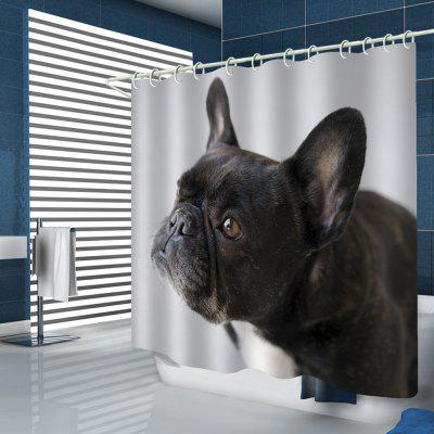 Cute Puppy Pattern Print Shower Curtain