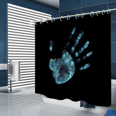 Creative Person's Palm Handprint Print Shower Curtain