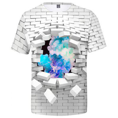 Men's 3D Print T-shirt with Short Sleeve