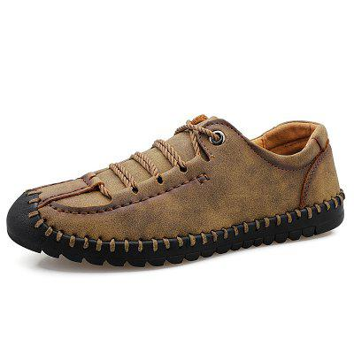 Large Size Hand Stitching Men's Casual Shoes