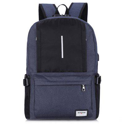 Casual Travel Men's Multi-function Backpack with USB Charging Port