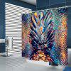 Abstract Creative Pineapple Pattern Print Shower Curtain - BABY BLUE