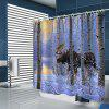 Sunset Woods Animal Prints Cortinas De Chuveiro - AZUL-CLARO