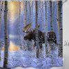 Sunset Woods Animal Prints douchegordijnen - BABYBLAUW