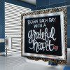 Creative Letter Decorative Print Shower Curtain - BLACK