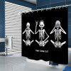 Creative Funny Style Skull Pattern Print Shower Curtain - BLACK