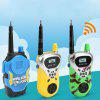 Children's Mini Walkie-talkie Wireless Call Parent-child Interaction Toy 2pcs - YELLOW