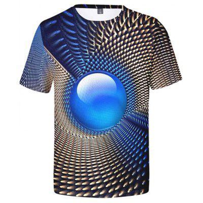 Men's Creative 3D Print Short-sleeved T-shirt