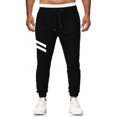 Letter Personalized Print Men's Casual Drawstring Trousers