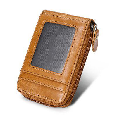 Leather Men's Wallet ID Bank Bus Card Holder Bag