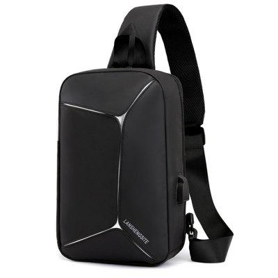USB Reflective Multi-function Waterproof One-shoulder Men Handbag