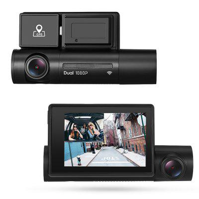 Alfawise LS02 1080P Dual Camera WiFi Car DVR Dash Cam with GPS Supercapacitors Sony Night Vision